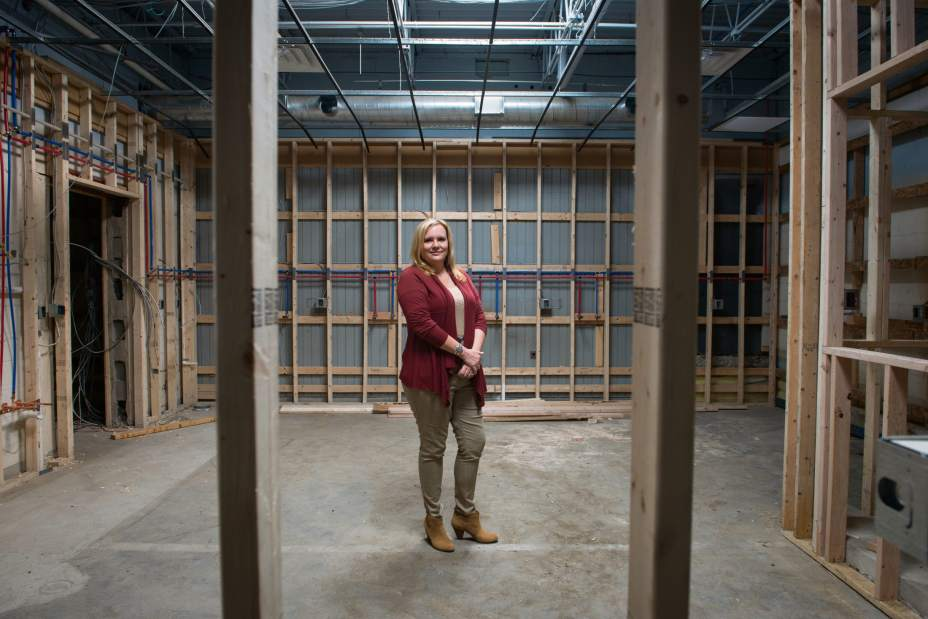 Founder Denise O'Connor of McCandless stands for a portrait in the future space of Three Rivers Mothers' Milk Bank in the Strip District on Monday, Oct. 5, 2015. She stands in front of where the bank's two pasteurizers will be once the space is up and running. O'Connor estimates November as their opening date.