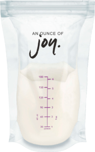 an ounce of joy milk bag